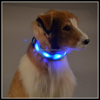 Blue GREEN RED WHITE PINK Dog Pet Safety Flashing LED Light reflective snake collar and leash Lead