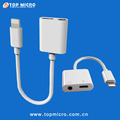 Newest 2A Quick Charge 2in1 Charging + 3.5mm Headphone Audio Adapter USB Data Cable for iPhone7