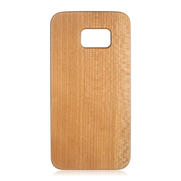 Single bottom wood phone case PC bottom hard phone shell protective back cover for Samsung S7 Edge