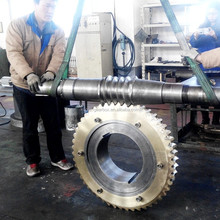 Customized large 20CrMnMo steel worm gear for steel mill