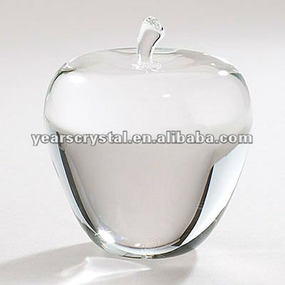 apple shaped crystal blank paperweight