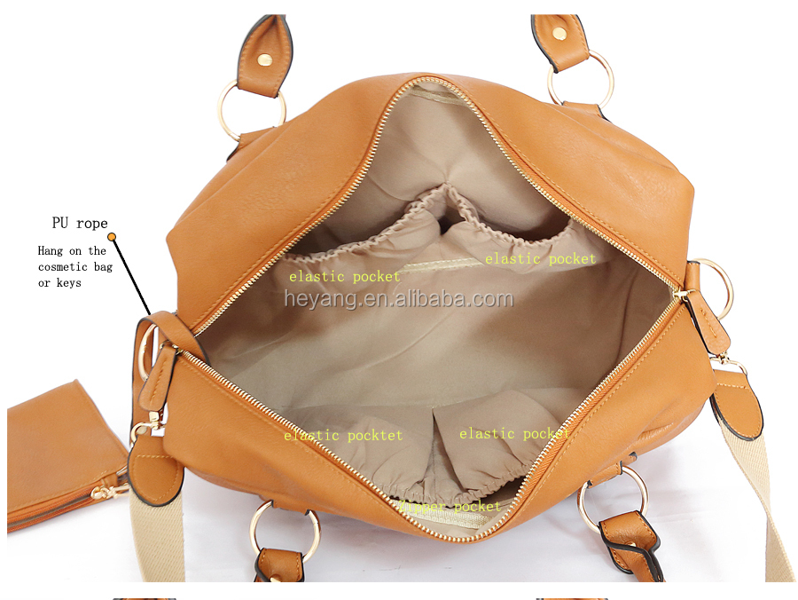 2015 New 4pcs PU aardman baby diaper bag tote,hand,messenger,shoulder nappy diaper bags set for mother HY-722