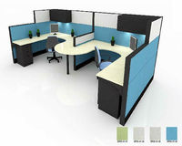 Professional work station desk modern office partition 2 person workstation