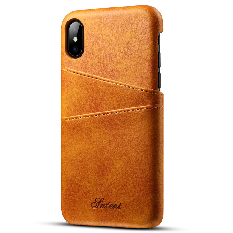 2017 Mobile Phone Accessories Back Cover for iPhone X Case Genuine Leather factory in China