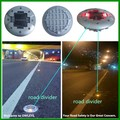 Road center solar panel round led road stud,15mm raised pavement marker