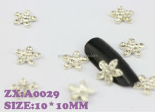 Alloy rhinestone bow tie 3d nail art world nail stickers