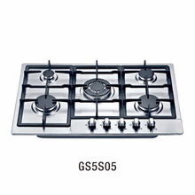 FVGOR factoty New Design stainless steel Gas hob 5 burners Italy sabaf burners