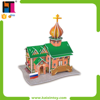 Russia Castle Design Paper 3d Puzzle Construction Toys