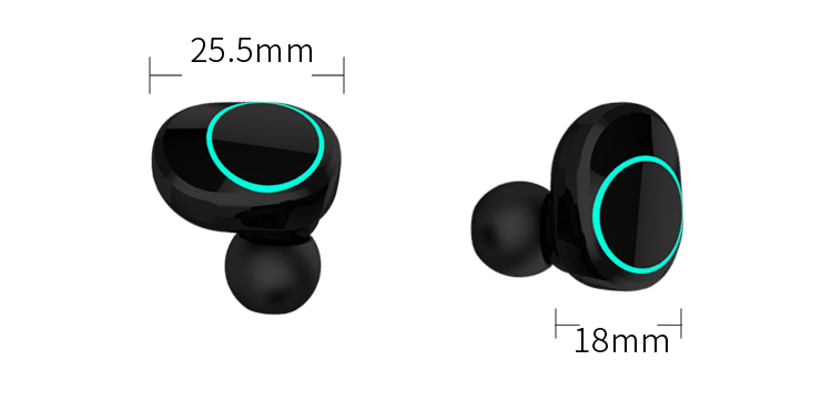IPX5 TWS Sweatproof Wireless Sports Noise Canceling earphone with charging box