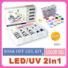 #301J beauty products wholesale soak off uv/led nail gel kit
