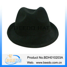 China factory faux wool felt upturn blank fedora hat