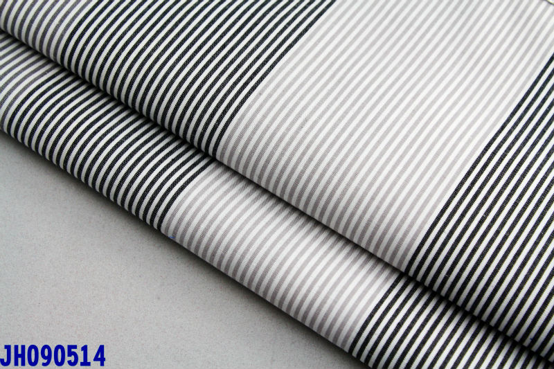 China mill 55%cotton 45% polyester colorful dyed stripe poplin