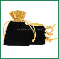 small quantity accept cheap custom velvet/cotton drawstring pouch bag,stock women's lady jewelry bag wholesale