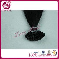 Be keen on ideal i tip long image hair in bulk i tip straight hair hair dye black color #1without chemicals