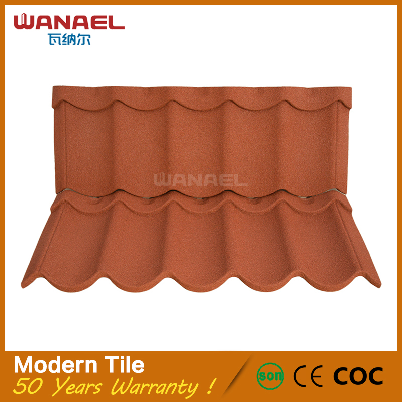 Wanael Modern First Class Quality Stone Coated Metal Materials for Roofing