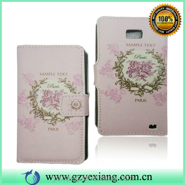 Flower Design Leather Pouch Case For Samsung Galaxy S2 I9100 Back Cover