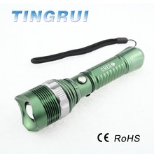 Promotional candy color led vibrator flashlight