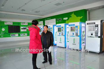 reverse vending machine for recycling the bottles to get money
