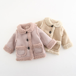 2019 Winter Children Clothes Baby Girls Fashion Jackets Baby kids Infants Cute Coat Velvet Thick Warm Outwear For 0-2Y Girls