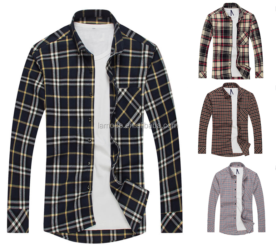 Top quality new model wholesale flannel latest new model shirts