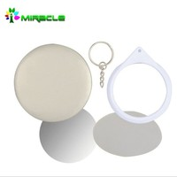 Mirror Buton Badge,blank plastic pin badges