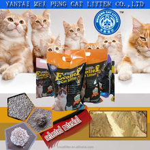 2016 new pets product dust free broken sand bentonite fine deodorant absorbent cat litter