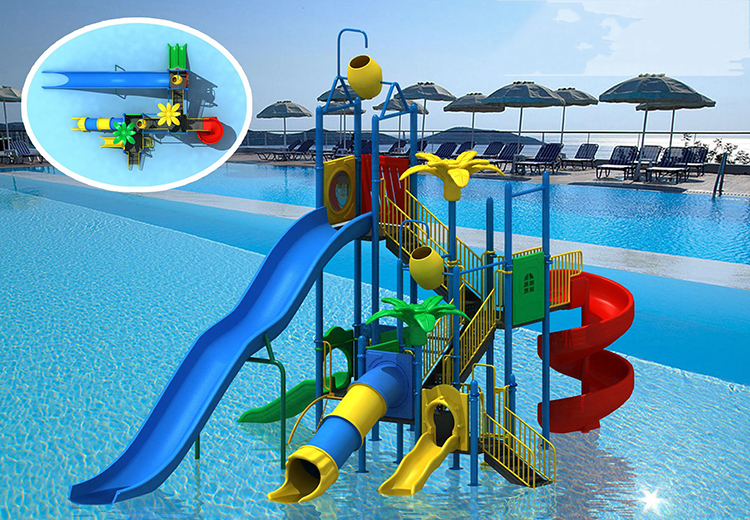 Large commercial summer kids adult water park slide for kids water playground equipment HF-G141B