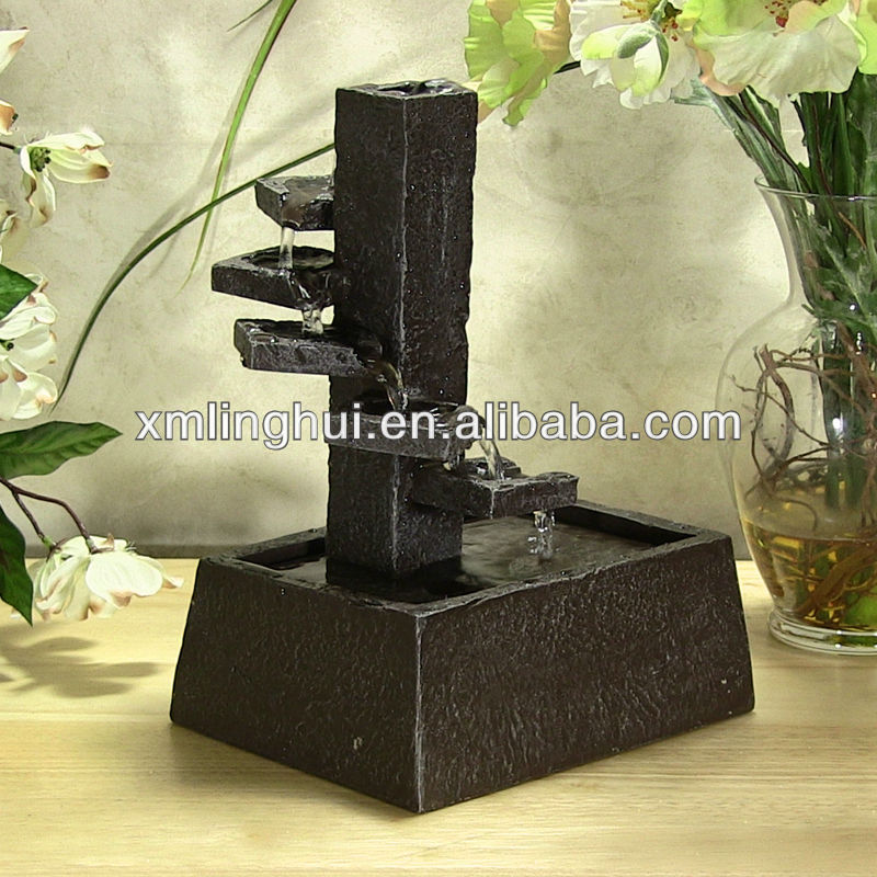 Small Resin Five level waterfall Indoor Water Features(SGS/CE/UL)