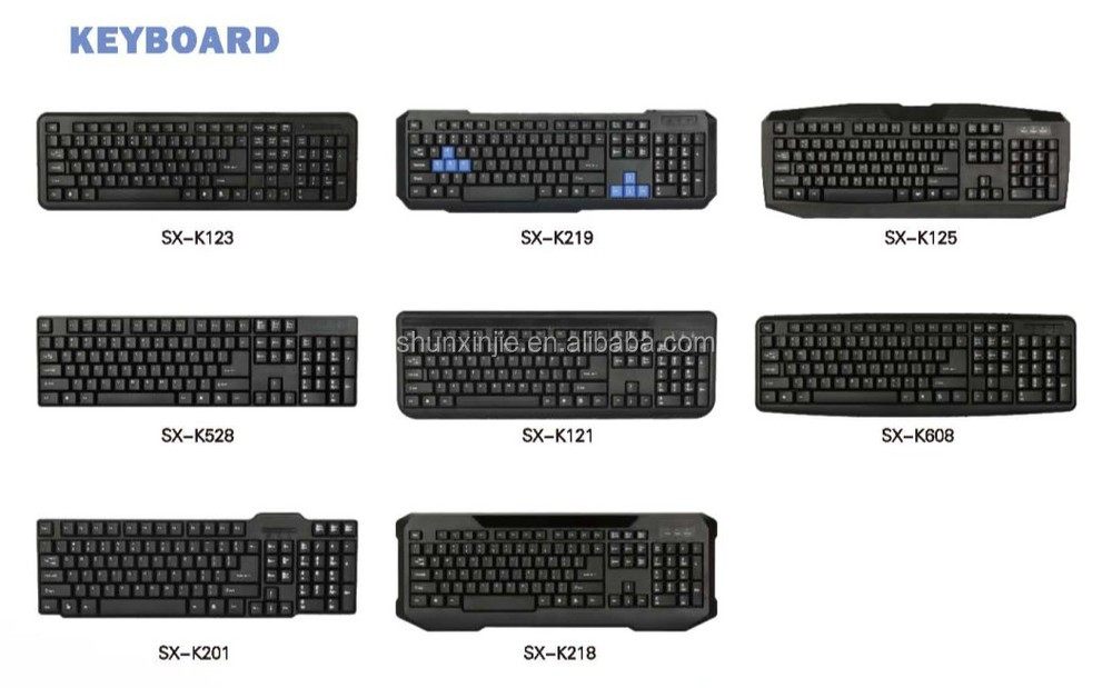 Best selling keyboard with laser engraving technology K201