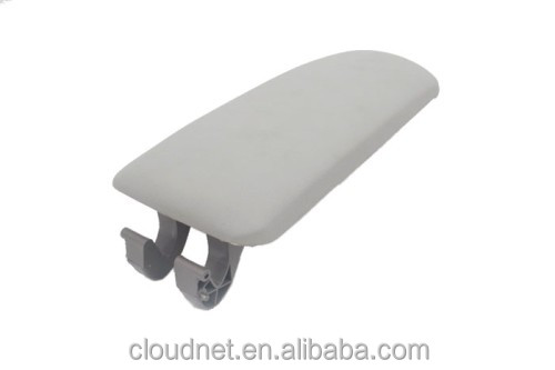 Interior Armrest Cover Lid (Leatherette Grey) For Audi A4 B6
