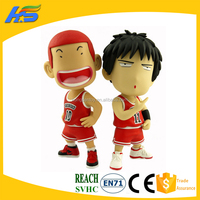 plastic 3D cartoon action figurines pvc custom make kids toy japanese cartoon figure