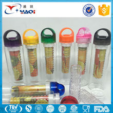 2017 New Products Customized Color Water Bottle With Fruit Infuser