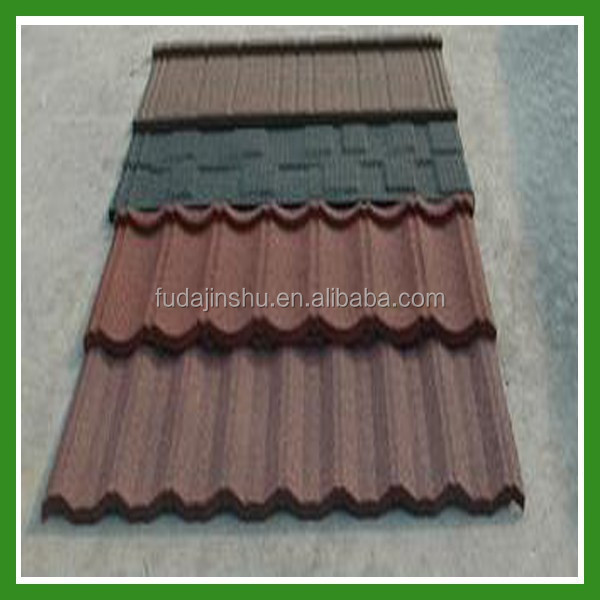 Nigeria Stone Coated Metal Roof Tile/Construction Material/Stone Chip Coated Roof Tile
