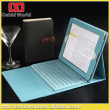 Fashionable Magnetic Detachable Wireless Bluetooth Keyboard Folio PU Leather Case For iPad 5/Air