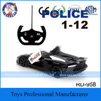 Attractive Mini Plastic Racing RC Police Car Kid Toy Car For Gift