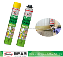 Best price pu foam sealant polyurethane foam 300ml 500ml 750ml from factory