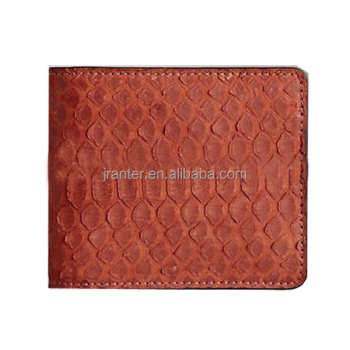 Handmade leather craft wallet genuine python skin animal purse