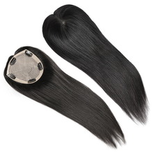 Wholesale women silk base topper clip in hair piece extension 5.5 x 6 human hair toupee