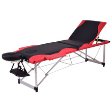 Firstwell 3 Fold Aluminium Portable Massage Table Facial Spa Bed