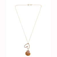 Fashionable new simple design chain necklace, heart charm necklace wholesale