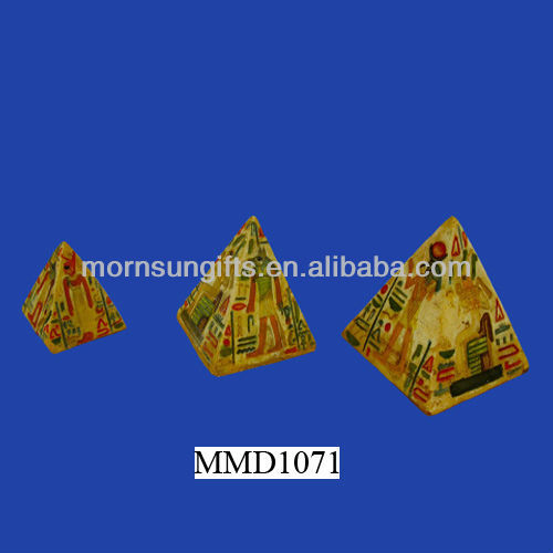 Resin Pyramid Set Horus Osiris Tan Pharoah Designs