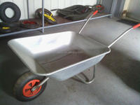 High quality 4 CU.FT garden galvanised chassis and tray wheel barrow