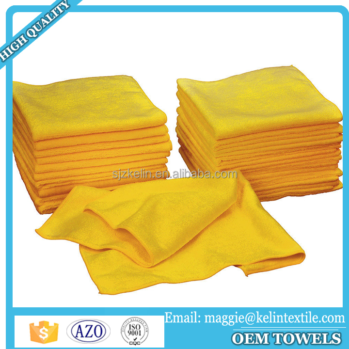 "bulk buy from china yellow 16x16"" super aborsent microfiber car towel/cloth"