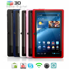 sale wholesale and minor price 7 inch tablet PC Q88 CPU Allwinner A13 ram 512 mb flash 4GB ultrathin Android 4.0 mini laptop