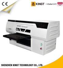 Kingt YG-4550 Ricoh Gen4 high quality led UV flatbed printer for Ceramic printing