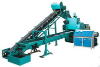 Cast steel scrap tire recycling cutting machine
