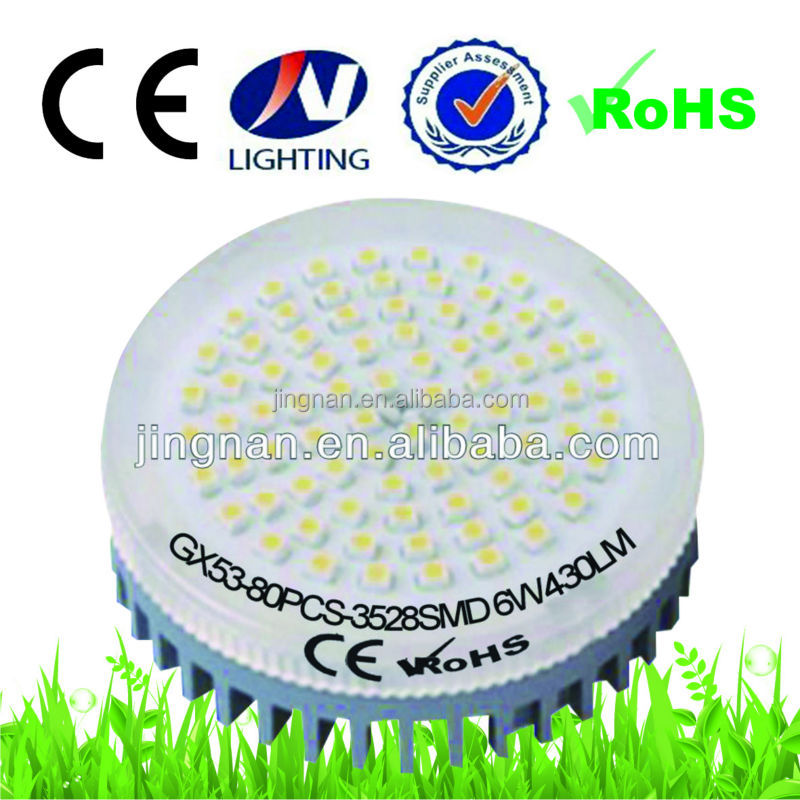 High Power led gx53 dimmable 6w 3528SMD cheap goods from china