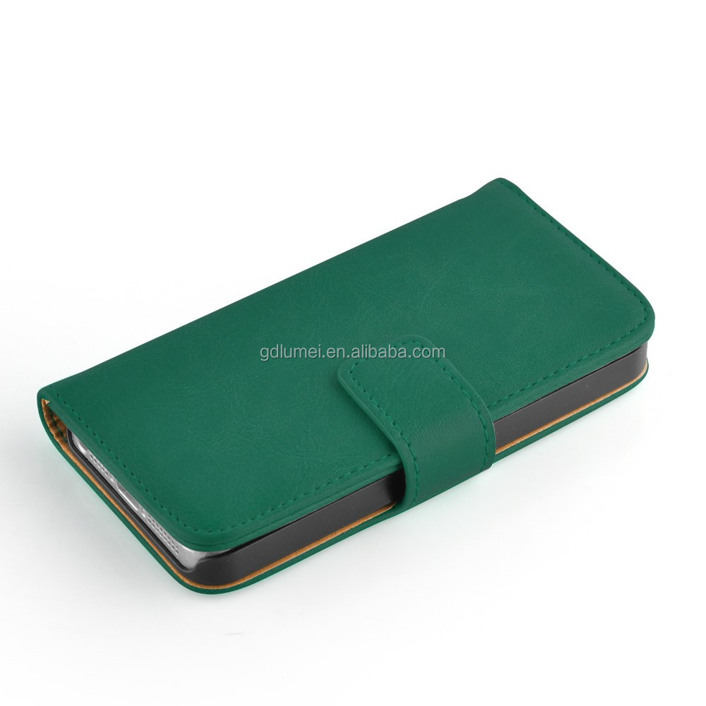 Retro Wallet Card Holder Flip Leather phone case for iphone 5 5s