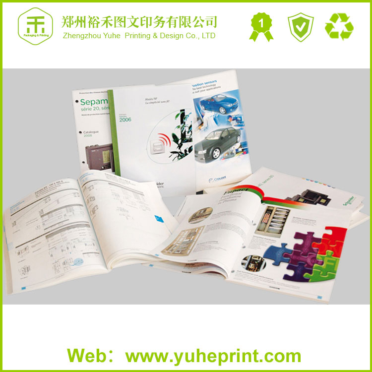 2016 standard size hot sell free sample printer offset C1S paper booklet from China