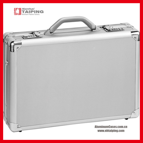Silver Diamond ABS brief brand name suitcase